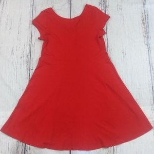 Chaps Red Skater Dress
